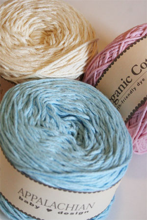 Appalachian Baby Organic Cotton Yarn - Sport Weight Organic Cotton Yarn