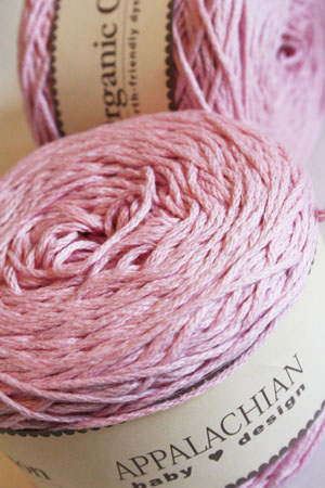 Appalachian Baby Organic Sport Weight Yarn in Soft Pink