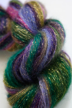 artyarns silk mohair glitter in 1025 Gold