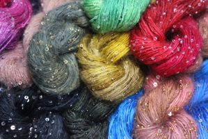 Artyarns beaded mohair with Sequins Bulky Big Bird Yellow
