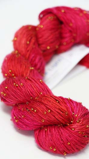Artyarns Beaded Silk | H25 Hot Coral Pink (Gold)