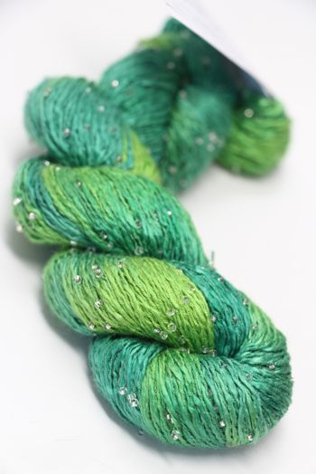 Artyarns Beaded Silk Light| H2 Lime Greens (Silver)