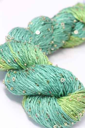 Artyarns BEADED SILK AND SEQUINS LIGHT | H2 Lime Greens