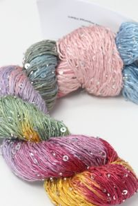 artyarns beaded silk with sequins light  in color