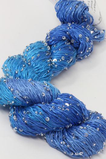 Artyarns BEADED SILK AND SEQUINS LIGHT | H35 Wild Blue Yonder (Silver)