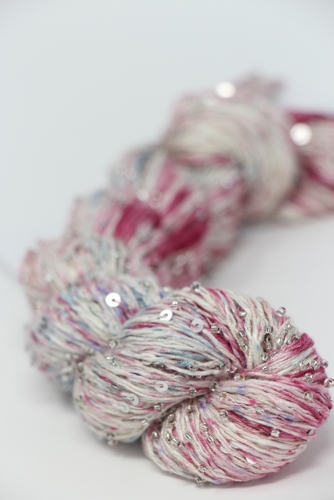 TOSH BEADED SILK AND SEQUINS LIGHT | 610 Mosaic Blush (Silver)
