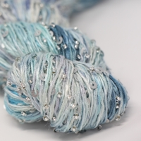 artyarns beaded silk with sequins light  in color 612