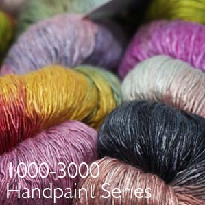 Artyarns ensemble light handpainted semi solid and multicolors