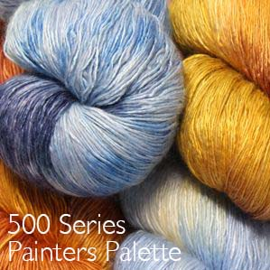 Artyarns Ensemble Glitter Light 500 Series Painters Palette handpaints