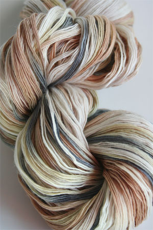 Cashmere 5 ply worsted by Artyarns in F6 Winter Bark