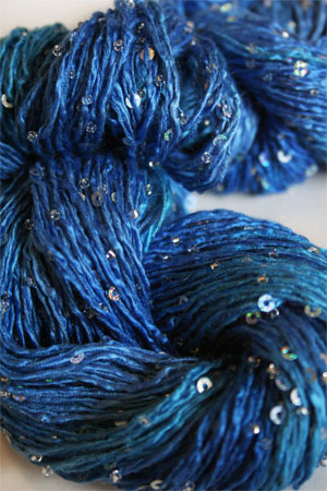 Beaded Silk and Sequins Light in H35 Wild Blue Yonder Artyarns