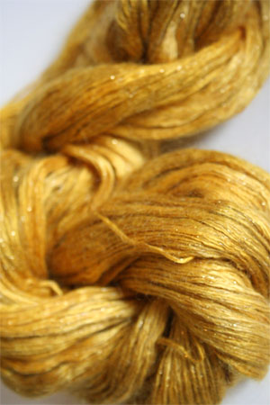 artyarns silk rhapsody glitter in h4 Scarab Silver or Gold with Silver or Gold Glitter in H8 Gold