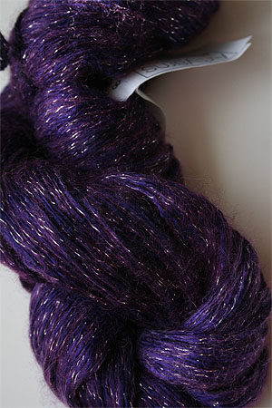 artyarns silk rhapsody glitter in h4 Scarab Silver with Silver Glitter in 298 Silver