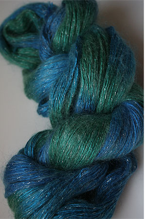 artyarns Silk Rhapsody Glitter Light in H26 Tahiti with Silver Glitter
