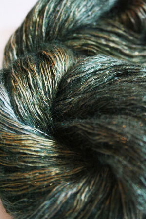 artyarns silk rhapsody glitter in h4 Scarab Silver or Gold with Silver or Gold Glitter in H9 Gold