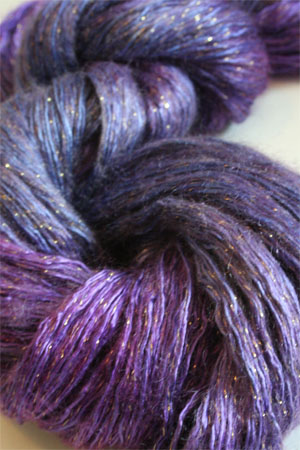 artyarns silk rhapsody glitter in H5 Scarab Silver or Gold with Silver or Gold Glitter in H7 Silver or Gold