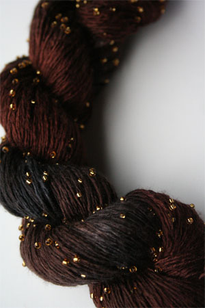 Artyarns Beaded Silk Light| H19 Charcoal Browns (Gold)
