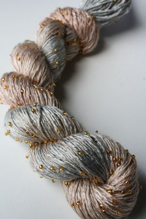 H20 Gold Beaded Silk Light from Artyarns