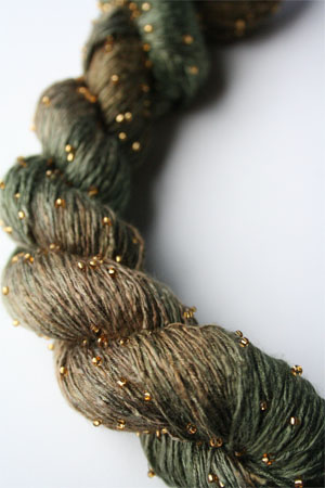 H9 Gold Beaded Silk Light from Artyarns