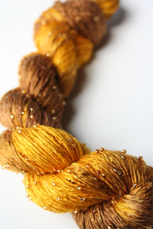 H8 Gold Beaded Silk Light from Artyarns