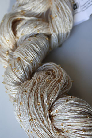 223 Vanilla Gold Beaded Silk Light from Artyarns