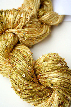 Beaded Silk and Sequins Light in 924 Gold Artyarns