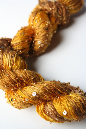 Beaded Silk and Sequins Light in H8 Pure Gold Artyarns
