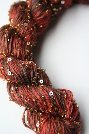 Beaded Silk and Sequins Light in H6 Gold Artyarns