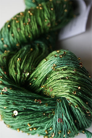 Beaded Silk and Sequins Light in H2 with Gold Artyarns