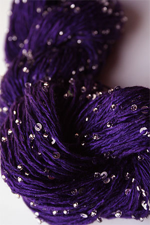 Beaded Silk and Sequins Light in 298 Bright Purple with Silver Artyarns