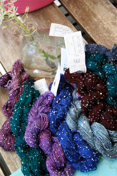 Beaded Silk and Sequins Light from Artyarns