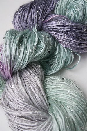 Artyarns Silk Rhapsody with Beads & Sequins in 153 Silver