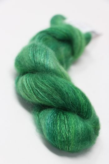 ARTYARNS SILK MOHAIR YARN in H2 Lime Greens
