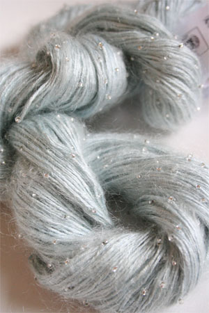 Artyarns Beaded Silk Mohair in 307 Pale Sky with Silver