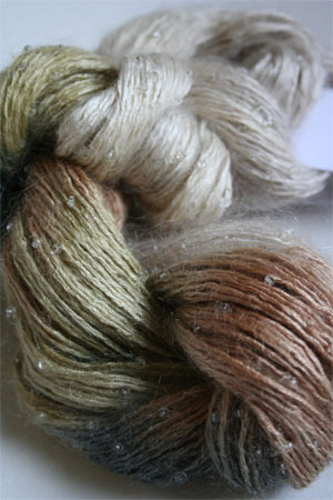 Artyarns Beaded Silk Mohair in F6 Winter Bark with Silver