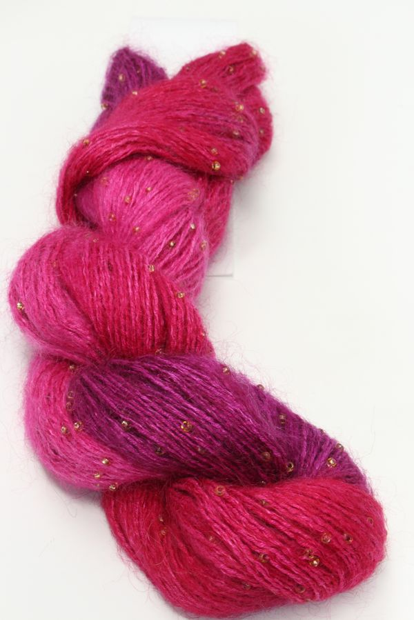Artyarns Beaded Silk Mohair | H1 Hot Pinks with Gold