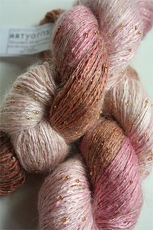 Artyarns Beaded Rhapsody | 130 Petal Pink Chocolate (Gold)