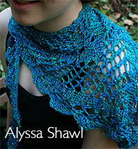F256 ALYSSA Shawl from Artyarns in Beaded Silk Light
