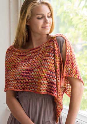 Star Stitch Shoulder Wrap | Lynn M. Wilson One + One Wraps, Cowls & Capelets