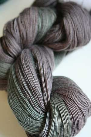 Cashmere Lace Yarn in 1004 Grey Multi Color