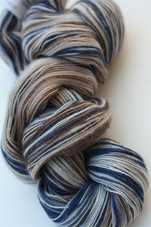 Artyarns Cashmere Lace Yarn143 Chocolate Navy Taupe Mix