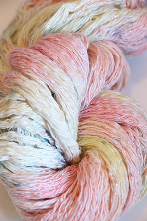 Artyarns Cashmere Glitter knitting yarn in 602 Watercolor Heart with Silver