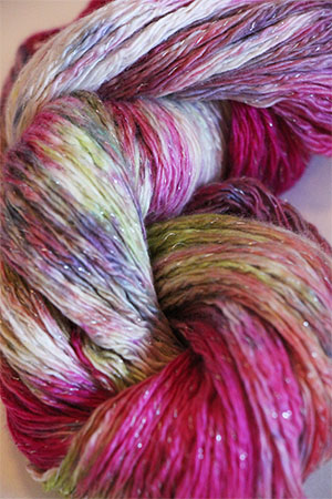 Artyarns Cashmere Glitter knitting yarn in 605 Fruit Salad with Silver