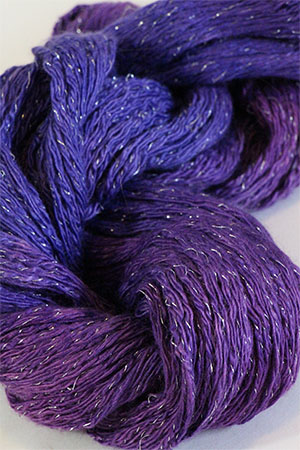 Artyarns Cashmere Glitter knitting yarn in H5 Violettas with Silver