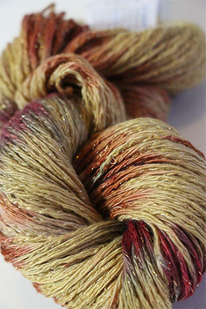 Artyarns Cashmere Glitter knitting yarn in 1018 Harvest with Gold