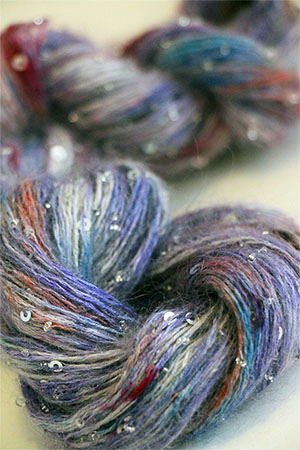 Artyarns Beaded Mohair with Sequins in CC5 Purple People with Silver