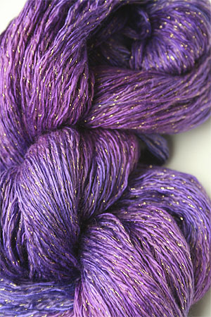 Artyarns Ensemble Glitter Light Yarn silk & Cashmere Yarn in H5 Gold Purple Tonal Violetas
