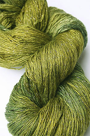 Artyarns Ensemble Glitter Light Yarn silk & Cashmere Yarn in H22 Gold Green Tonal