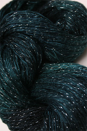 Artyarns Ensemble Glitter Light Yarn silk & Cashmere Yarn in H23 Silver Totally Teal