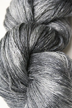 Artyarns Ensemble Glitter Light Yarn silk & Cashmere Yarn in H18 Silver Grey Tonal
